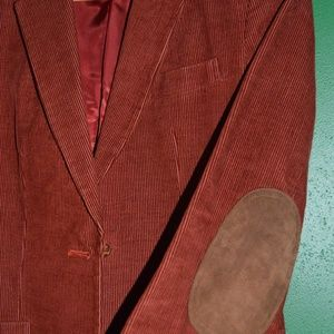 Corduroy Jacket with Faux Suede Elbows